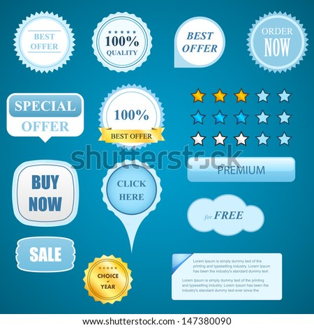 Badges collection, elements for internet marketing