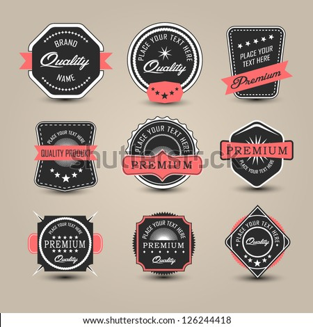 Badges collection. Vector - stock vector