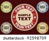 Badges Illustration - stock vector