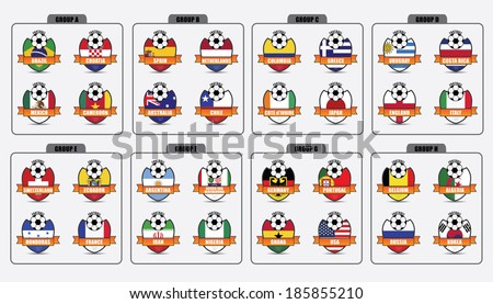 Badges of National Flags - stock vector