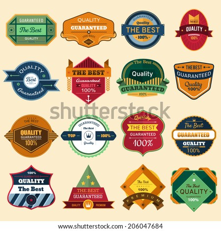 Badges Vector Set - stock vector