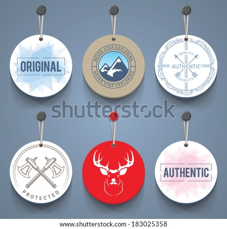 Badges with cords. EPS10. - stock vector