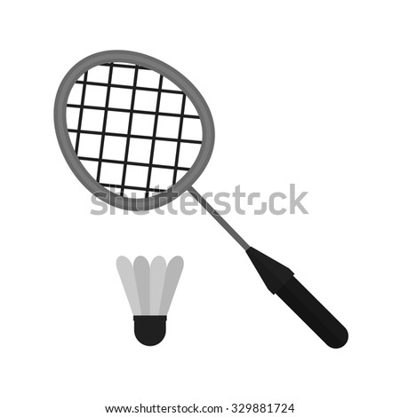 Badminton, racket, shuttlecock, sports icon vector image. Can also be used for fitness, recreation. Suitable for web apps, mobile apps and print media.