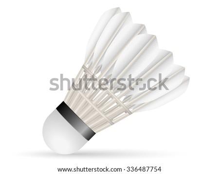 Badminton shuttlecock on a white background. - stock vector