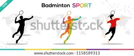 Badminton Sports Man Vector Character Illustration Games