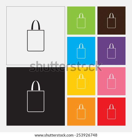 Bag icon in flat design style. Vector illustration eps 10.