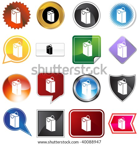 bag  icon isolated on a white background.