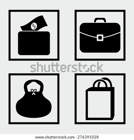 Bag Icons - stock vector
