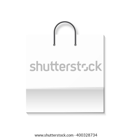 Bag isolated on a white background. White paper bag. Shopping bag. Bags for boutiques. - stock vector