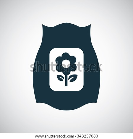 bag of fertilizer icon, on white background
