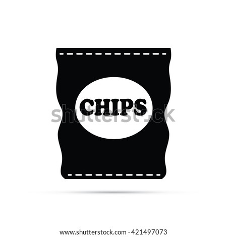 Bag of Potato Chips Icon