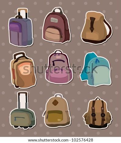 bag stickers - stock vector