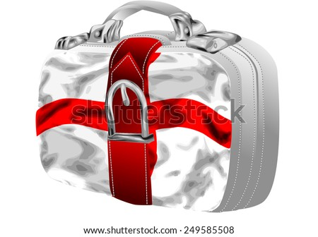 bag with st george's flag design