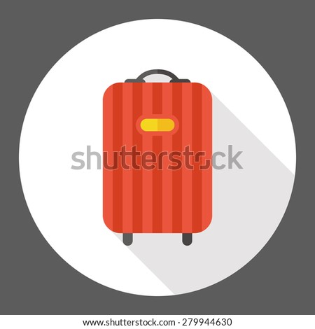 baggage flat icon with long shadow - stock vector