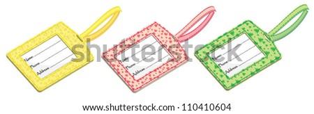 Baggage tags over white background - stock vector
