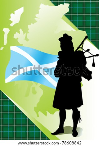 bagpipes - stock vector