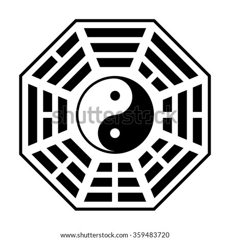 Bagua Symbol Taoism Daoism Flat Icon Stock Vector 359483720