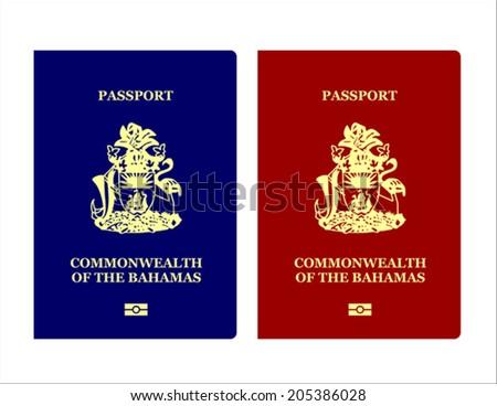 Bahamian Passport - stock vector