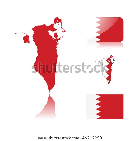 Bahrain Map Vector Bahrain Map Including Map
