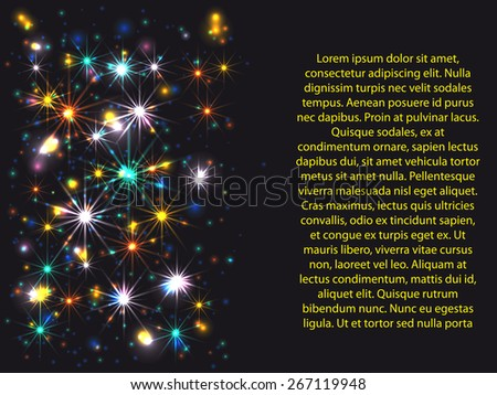 bakcground for your presentation with colors stars and circles - stock vector
