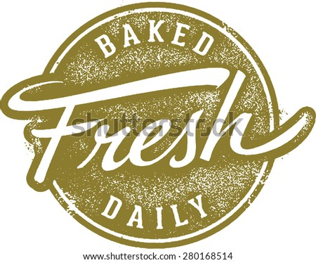 Baked Fresh Daily Menu Stamp - stock vector