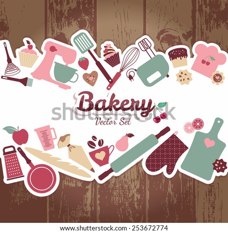 Bakery and sweets abstract illustration. - stock vector