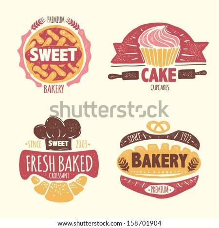 Bakery badges set - stock vector