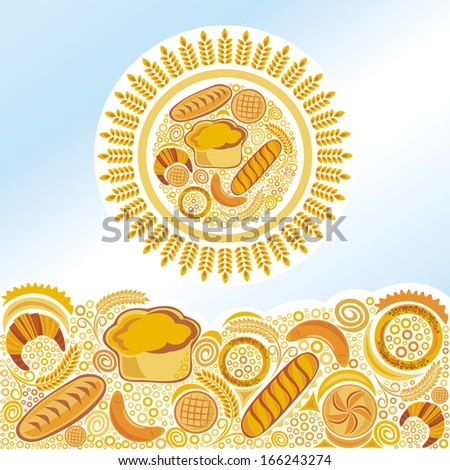 Bakery bread vector illustration