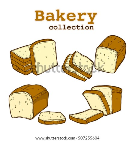 Bakery collection, food and drink, bakery elements, illustration high resolution