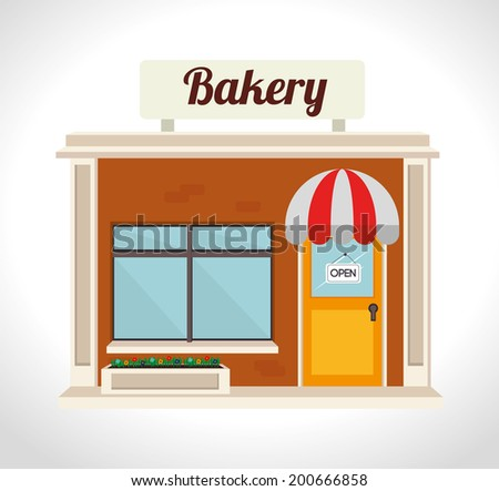 Bakery design over white background, vector illustration