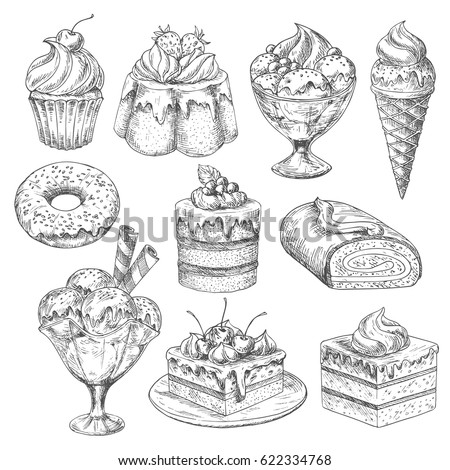 Vector Set Sketch Illustrations