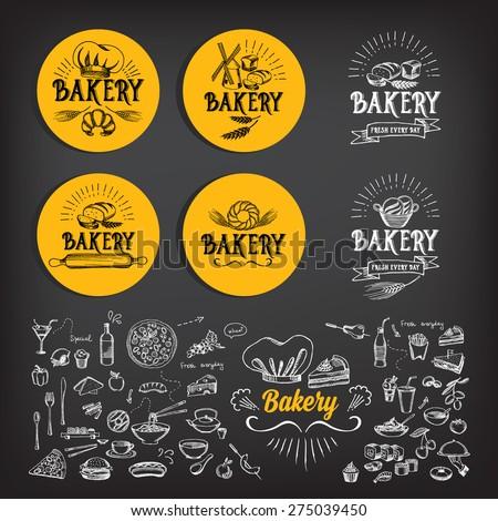 Bakery icon design. Menu badge vintage.  - stock vector