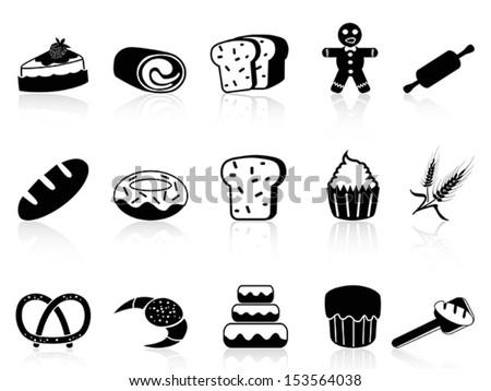 bakery icons set - stock vector