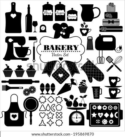 Baking Tools Vector Baking Utensils Stock Images Royaltyfree Images & Vectors