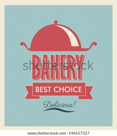 bakery label over blue background vector illustration