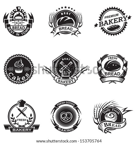 Bakery labels set - stock vector