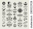 Bakery logotypes set. Bakery vintage design elements, logos, badges, labels, icons and objects