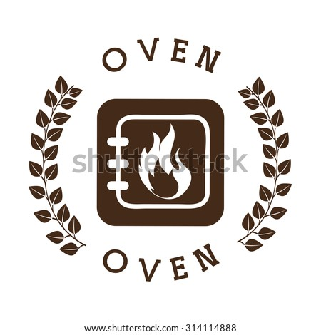 bakery shop seal design, vector illustration eps10 graphic  - stock vector