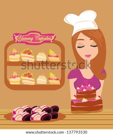 bakery store - stock vector