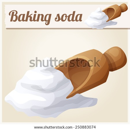 Baking soda. Detailed Vector Icon. Series of food and drink and ingredients for cooking. - stock vector