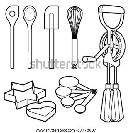Baking Utensils Stock Images Royalty Free Images Vectors