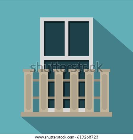 Balcony icon for Balcony vector