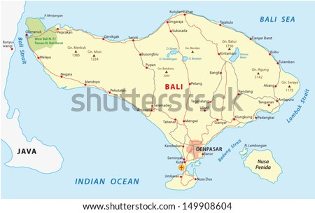 Map of bali stock images royalty free images vectors shutterstock bali map gumiabroncs Images