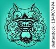 Balinese artwork barong - stock vector