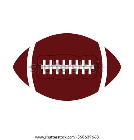 ball american football oval icon vector illustration eps 10