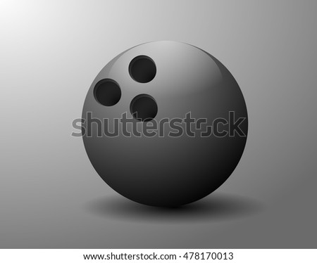 Ball bowling. The image can be used as a registration button for the site or program.