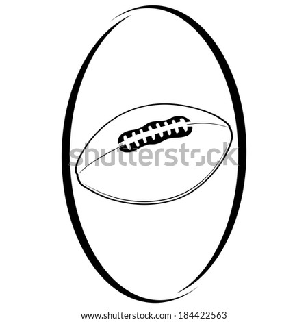 Ball for the game of rugby. Illustration on white background.