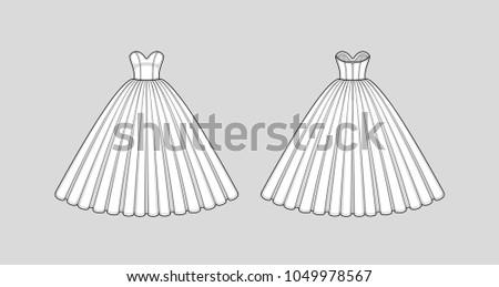 prom dress sketch stock images royaltyfree images