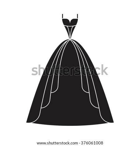 Ball gown female black long