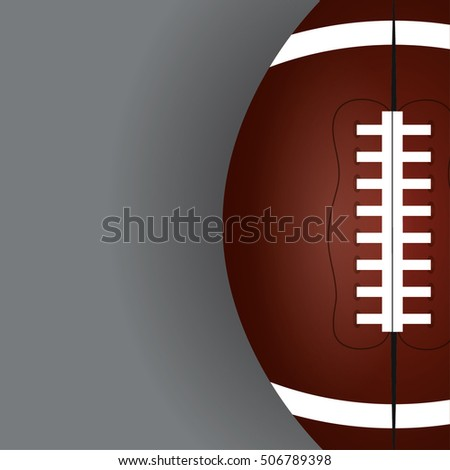 Ball icon. American football sport hobby and competition theme. Colorful design. Vector illustration